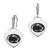 Penn State Nittany Lions CZ Cluster Heart Earrings