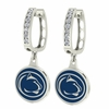 Penn State Nittany Lions CZ Hoop Earrings