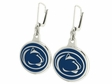 Penn State Nittany Lions Silver Enamel Earrings