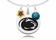 Penn State Nittany Lions Necklace with Flower Charm