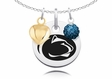 Penn State Nittany Lions Necklace with Heart and Crystal Accents