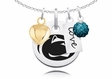 Penn State Nittany Lions Necklace With Heart, Color and Love