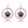 Penn State Nittany Lions Pink CZ Circle Earrings