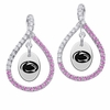 Penn State Nittany Lions Pink CZ Figure 8 Earrings