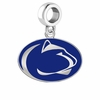 Penn State Nittany Lions Silver Logo and School Color Drop Charm