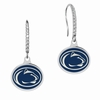 Penn State Nittany Lions Sterling Silver and CZ Drop Earrings