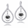 Penn State Nittany Lions White CZ Figure 8 Earrings