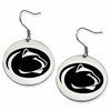 Pennsylvania State Nittany Lions Satin Finished Disc Earrings