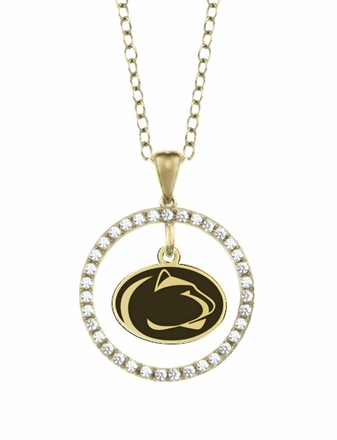 Pennsylvania State Nittany Lions Gold and Diamond Circle Pendant
