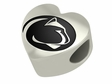 Pennsylvania State Nittany Lions Heart Shape Bead