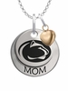 Pennsylvania State Nittany Lions MOM Necklace with Heart Charm