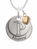 Pepperdine Waves Alumni Necklace with Heart Accent