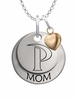 Pepperdine Waves MOM Necklace with Heart Charm