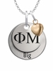 Phi Mu BIG Necklace with Heart Accent