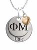 Phi Mu LITTLE Necklace with Heart Accent