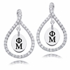 Phi Mu White CZ Figure 8 Earrings