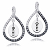 Phi Sigma Sigma Black and White Figure 8 Earrings