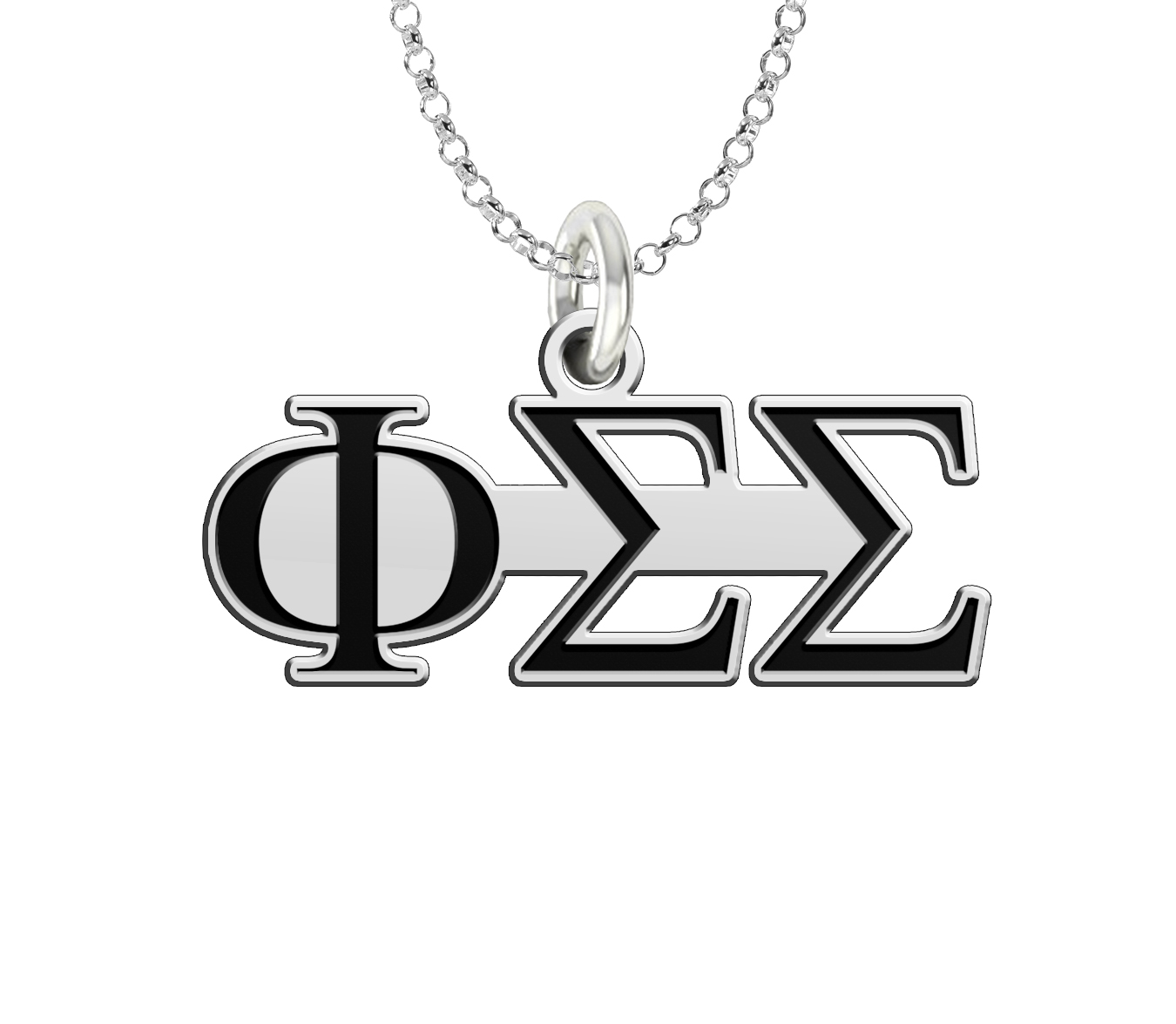 Wholesale Phi Sigma Sigma Cutout Sterling Silver Logo Charm Large