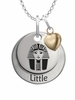 Phi Sigma Sigma LITTLE Necklace with Heart Accent