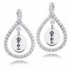 Phi Sigma Sigma White CZ Figure 8 Earrings