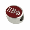Pi Beta Phi Silver Sorority Bead Charm