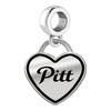 Pittsburg State Gorillas Border Heart Dangle Charm