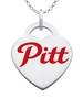 Pittsburg State Gorillas Color Logo Heart Charm
