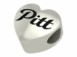 Pittsburg State Gorillas Heart Shape Bead