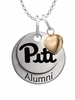 Pittsburgh Panthers Alumni Necklace with Heart Accent