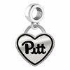 Pittsburgh Panthers Border Heart Dangle Charm