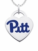Pittsburgh Panthers Color Logo Heart Charm