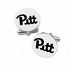 Pittsburgh Panthers Cufflinks Stainless Steel Round Top