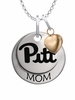 Pittsburgh Panthers MOM Necklace with Heart Charm