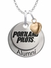 Portland Pilots Alumni Necklace with Heart Accent