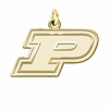 Purdue Boilermakers 14K Yellow Gold Natural Finish Cut Out Logo Charm