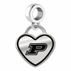 Purdue Boilermakers Border Heart Dangle Charm