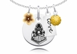Purdue Boilermakers Cluster Necklace