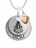 Purdue Boilermakers MOM Necklace with Heart Charm