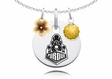 Purdue Boilermakers Necklace with Flower Charm
