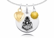 Purdue Boilermakers Necklace with Heart and Crystal Accents