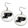 Purdue Boilermakers Satin Finished Disc Earrings