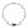 Purdue Boilermakers Sterling Silver Tin Cup Heart Bracelet