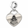 Purdue Engraved Heart Dangle Charm