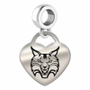 Quinnipac Engraved Heart Dangle Charm