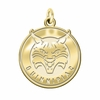 Quinnipiac Bobcats 14K Yellow Gold Natural Finish Cut Out Logo Charm