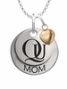 Quinnipiac Bobcats MOM Necklace with Heart Charm
