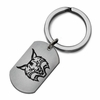 Quinnipiac Bobcats Stainless Steel Key Ring