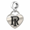 Rhode Island Engraved Heart Dangle Charm
