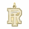 Rhode Island Rams 14K Yellow Gold Natural Finish Cut Out Logo Charm