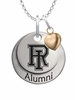 Rhode Island Rams Alumni Necklace with Heart Accent